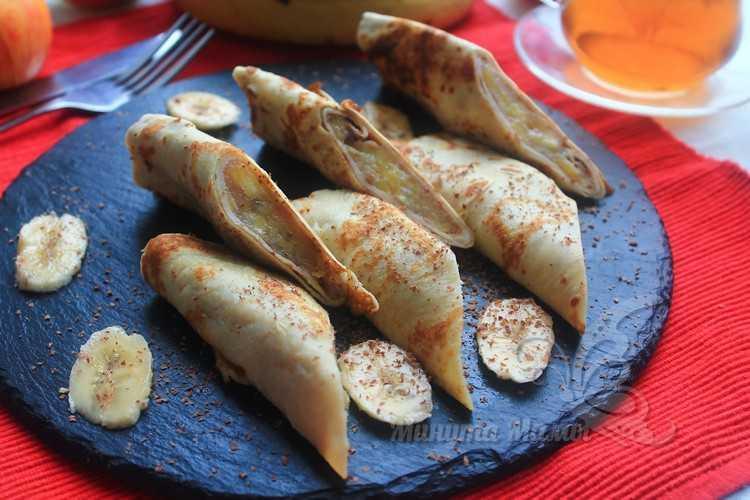 Блинчики с яблоками и бананами - рецепт