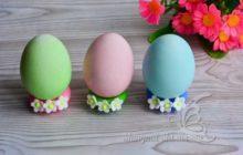 Как покрасить яйца гелевыми пищевыми красителями на Пасху - рецепт с фото