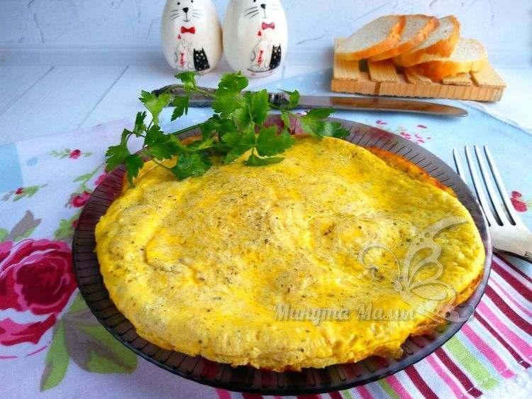 Омлет с рикоттой на сковороде - простой рецепт с фото пошагово