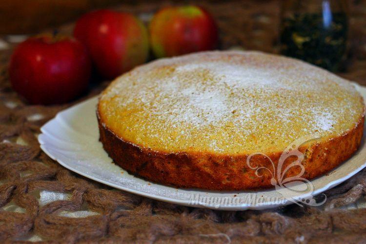 Фото-рецепт пирога с яблоками и апельсином в духовке