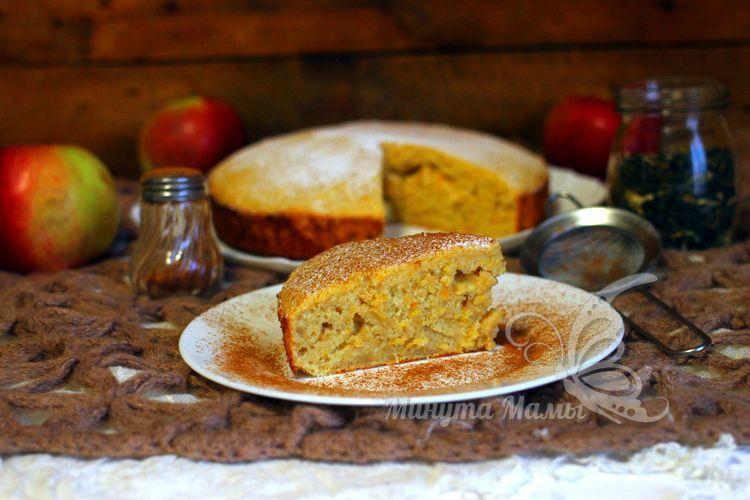 Пирог с яблоками и апельсином - рецепт с фото пошагово в духовке