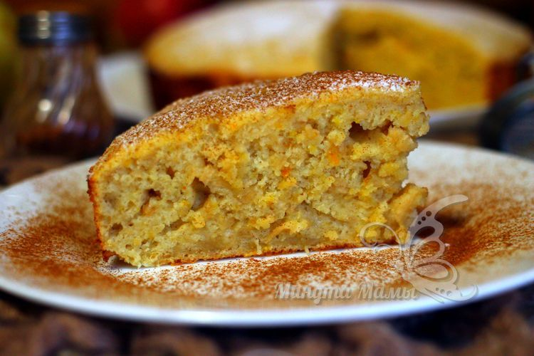 Рецепт с фото пирога с яблоками и апельсином