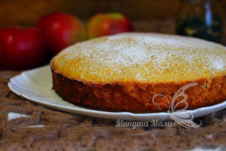 Пошаговый рецепт с фото пирога с яблоками и апельсином