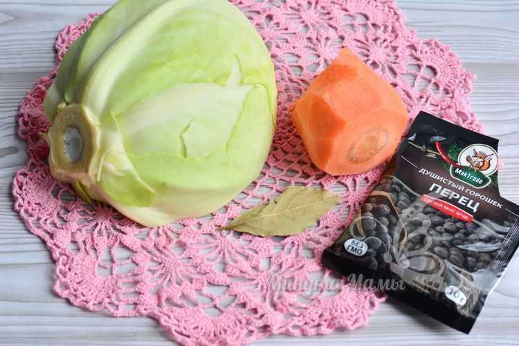 Овощи и перец для квашеной капусты