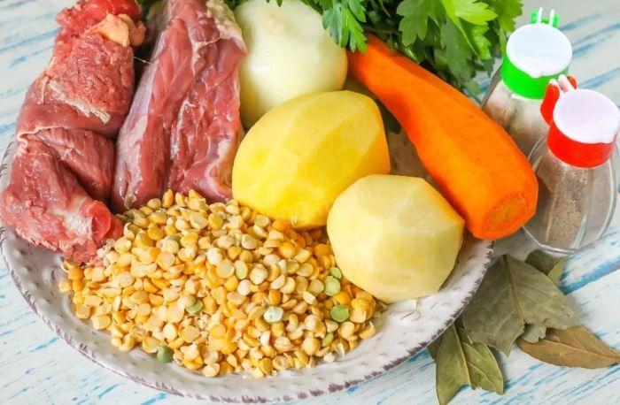 как сварить гороховый суп с мясом говядины