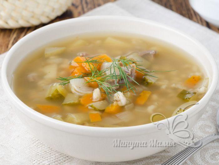 суп с перловкой