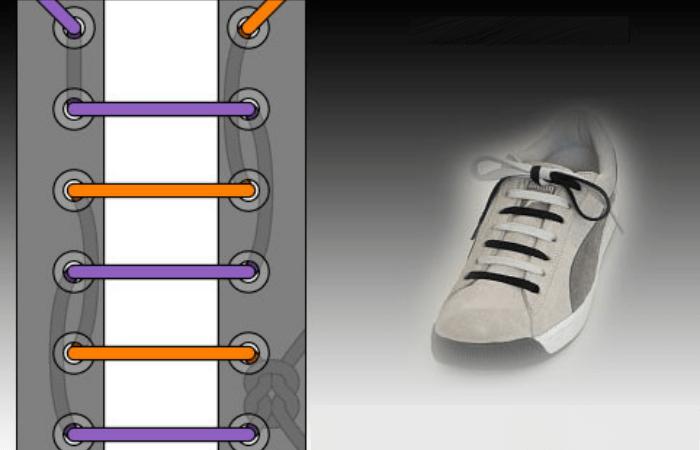 способы завязывания шнурков на кроссовках