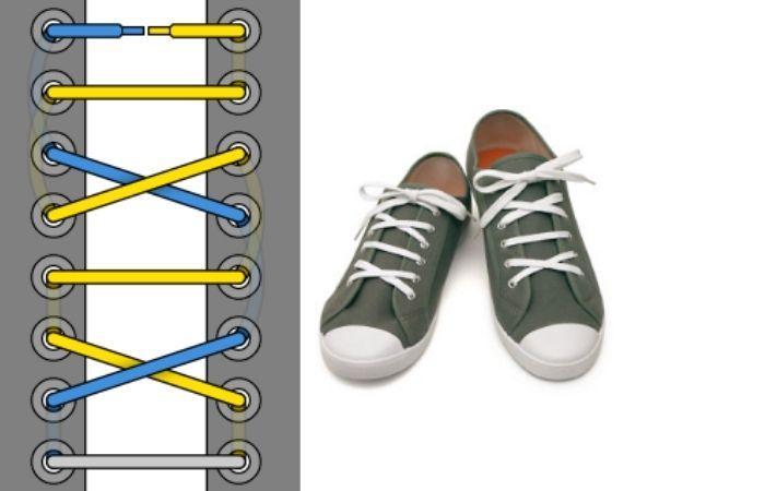 шнуровка кроссовок без завязывания