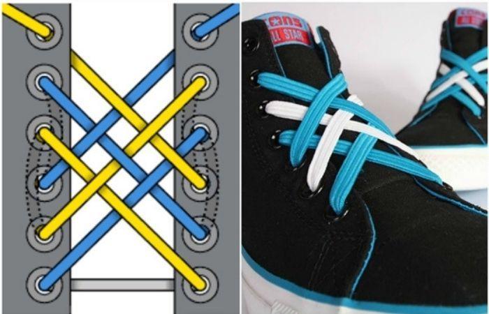 как красиво зашнуровать кроссовки