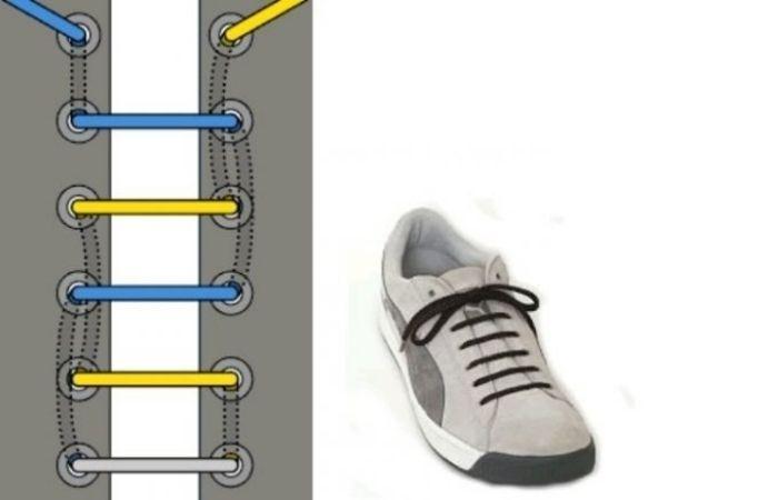 как зашнуровать кроссовки чтобы не завязывать шнурки