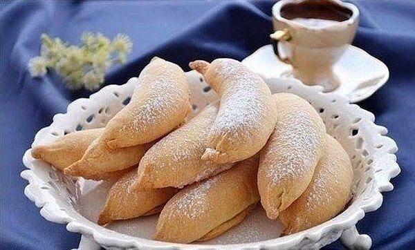 Печенье с бананом и творогом