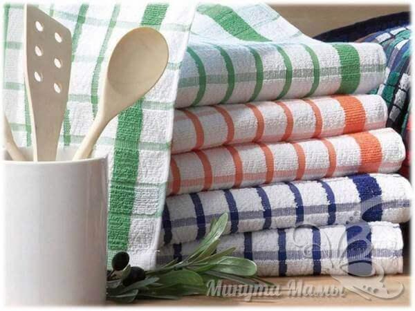 Как отстирать жирные пятна на полотенцах
