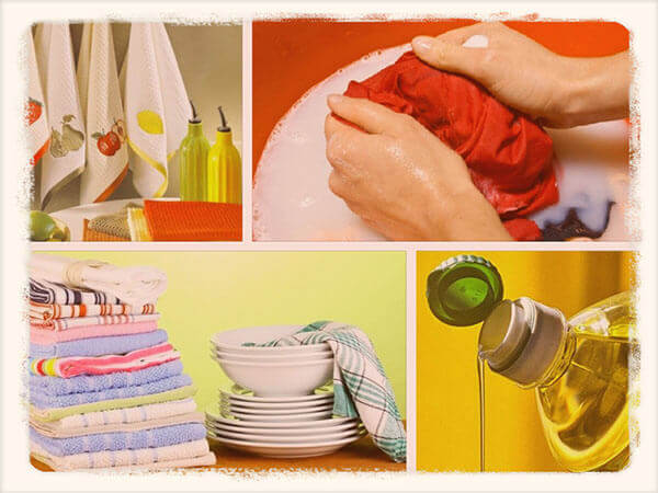 Как отбелить кухонные полотенца, чтобы были как новые