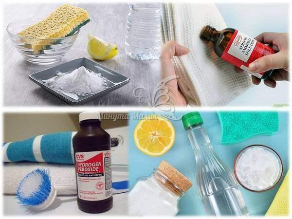 Как удалить пятна с кухонных полотенец
