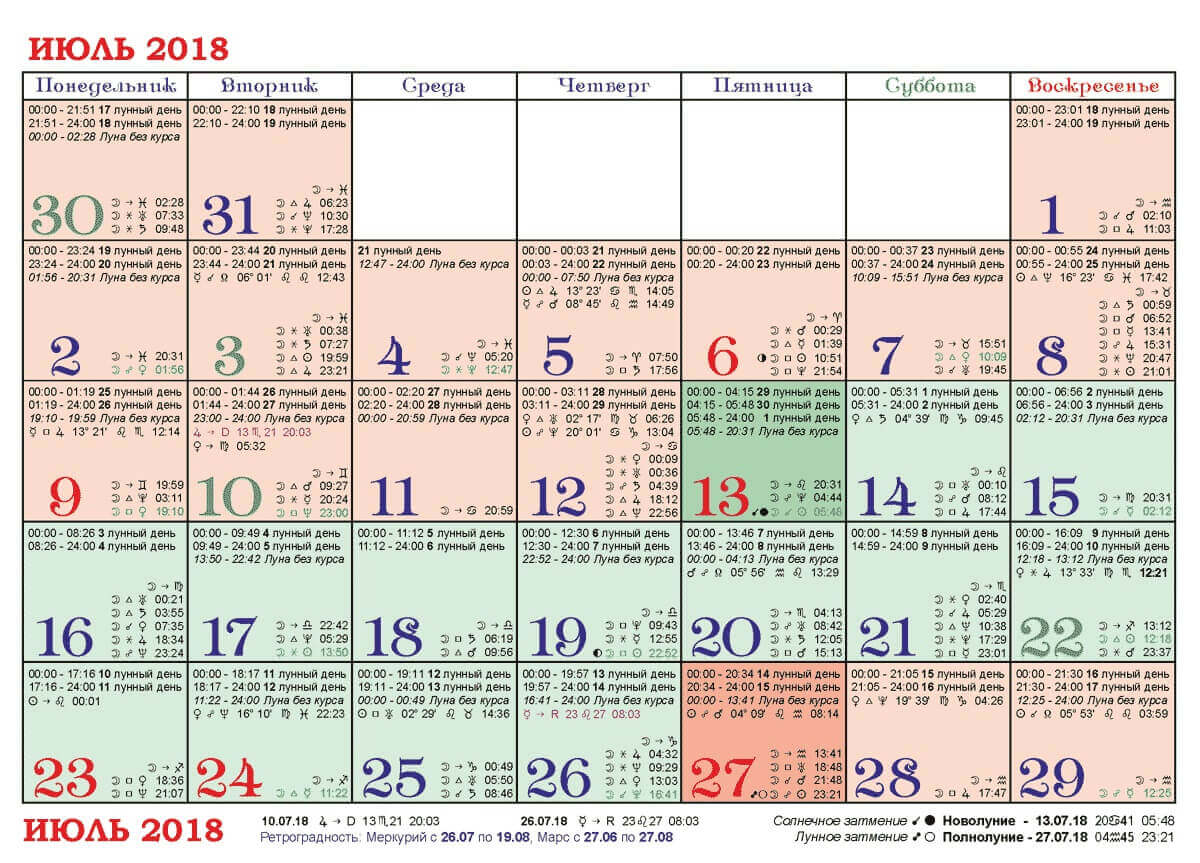 Знакомство календарю удачное по лунному