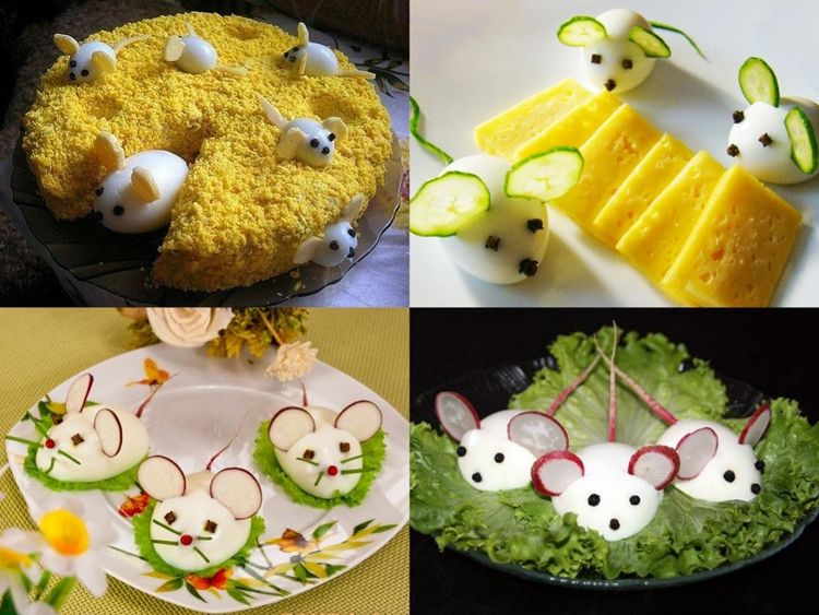 закуски в виде мыши