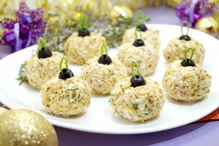 Закуска ёлочные шары