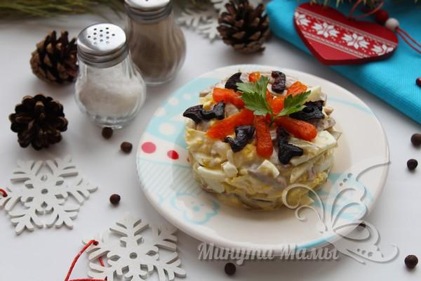 Салат с говяжьим языком - рецепт с фото, очень вкусный с маринованными огурцами