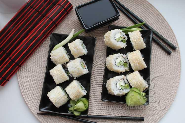 Роллы с кальмаром в домашних условиях - пошаговый рецепт с фото