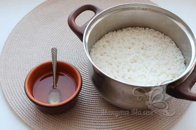Добавить рисовый уксус