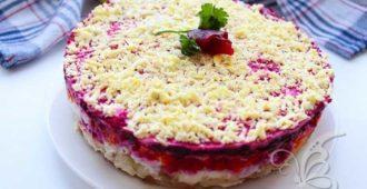 салат под шубой с яблоком классический рецепт слои