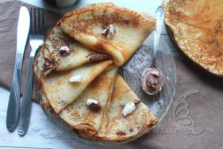 Рецепт тонких блинчиков на молоке с дырочками - пошаговый рецепт с фото