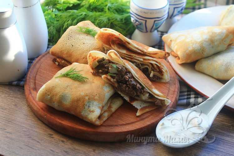 Блинчики с ливером - самый вкусный рецепт с пошаговыми фото