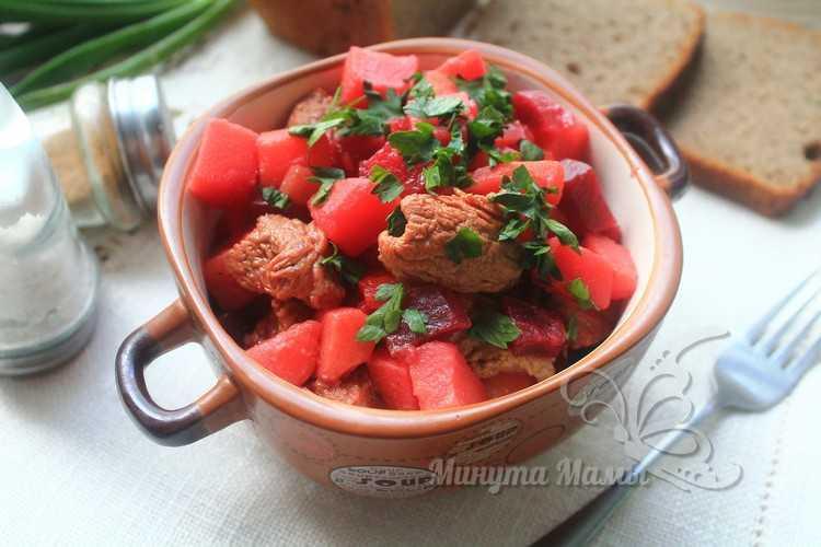 Овощное рагу с говядиной и картошкой - рецепт с фото пошагово