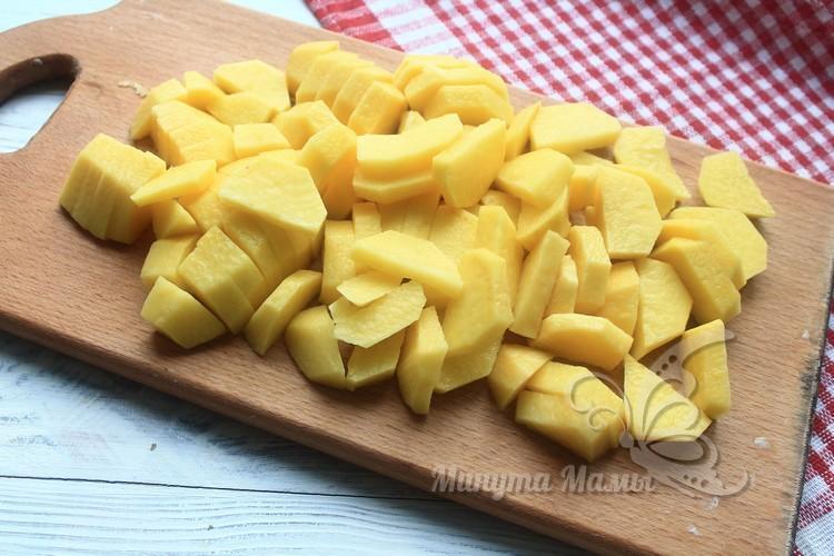 измельчить картошку
