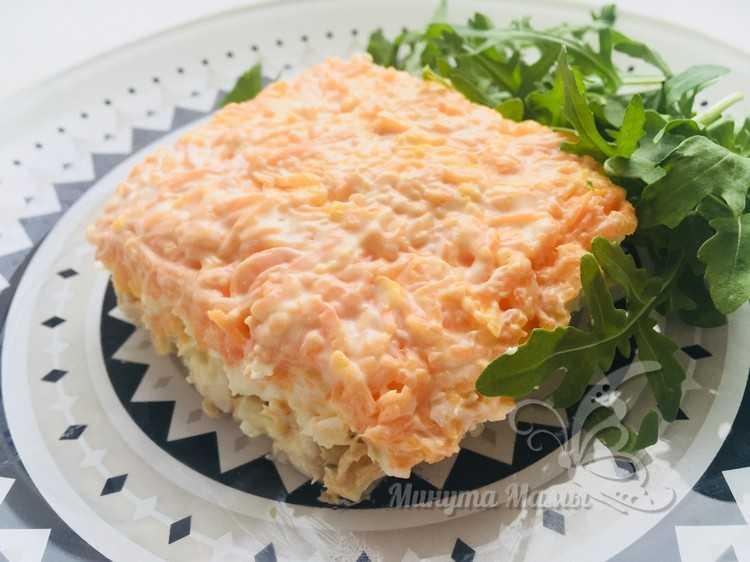 Салат «Мимоза» с горбушей - классический рецепт с фото пошагово