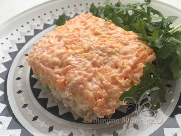 Салат «Мимоза» с горбушей - классический рецепт