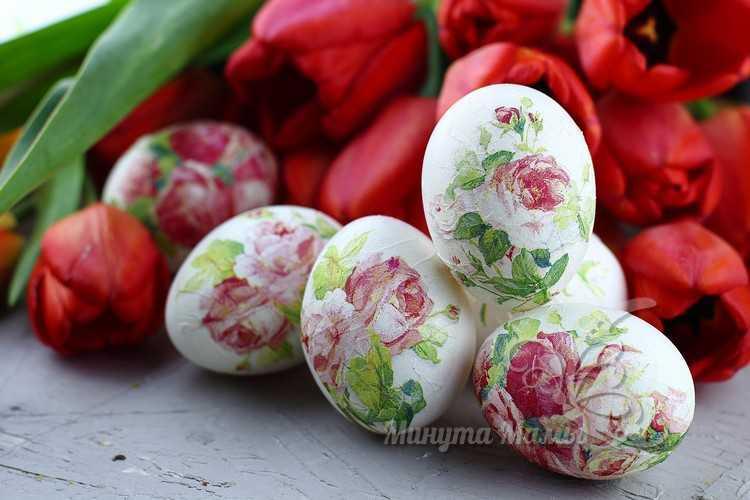 Декупаж яиц на Пасху салфетками: мастер класс, фото пошагово