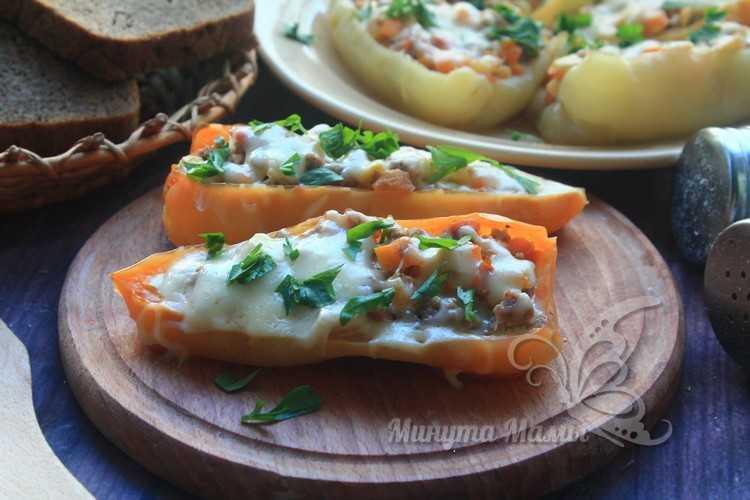 вкусный перец с овощами и мясом