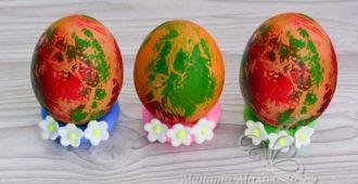 Как покрасить яйца с помощью салфеток на Пасху в домашних условиях, рецепт с фото