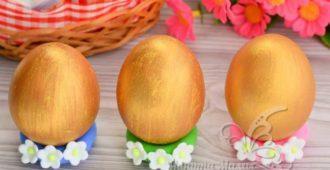 Как покрасить яйца в золотой цвет в домашних условиях