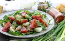 Очень вкусный салат с говядиной и фасолью
