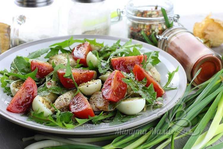 Салат из одуванчиков в домашних условиях - рецепт с фото пошагово