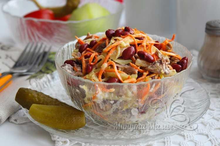 Салат с говядиной и фасолью - рецепт с фото очень вкусный