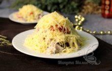 Салат с языком и шампиньонами - рецепт с фото пошагово