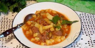 Тушёная картошка с говядиной в кастрюле – пошаговый рецепт с фото пошагово