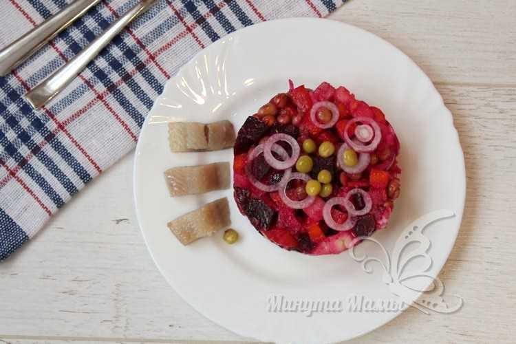 Пошаговый рецепт с фото винегрета с селедкой