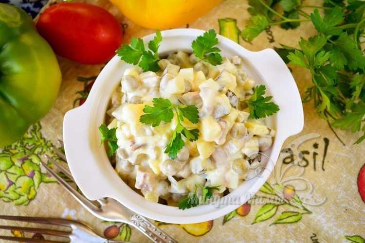 Пошаговый рецепт с фото салата «Оливье» с говядиной