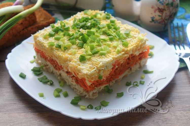 Фото-рецепт салата «Бунито» с корейской морковкой