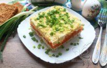 Салат «Ералаш» с мясом и сырыми овощами
