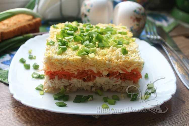 Рецепт с пошаговыми фото салата «Бунито» с корейской морковкой