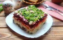 Классический салат «Оливье» с говядиной
