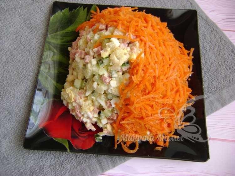 покрываем слоем корейской моркови