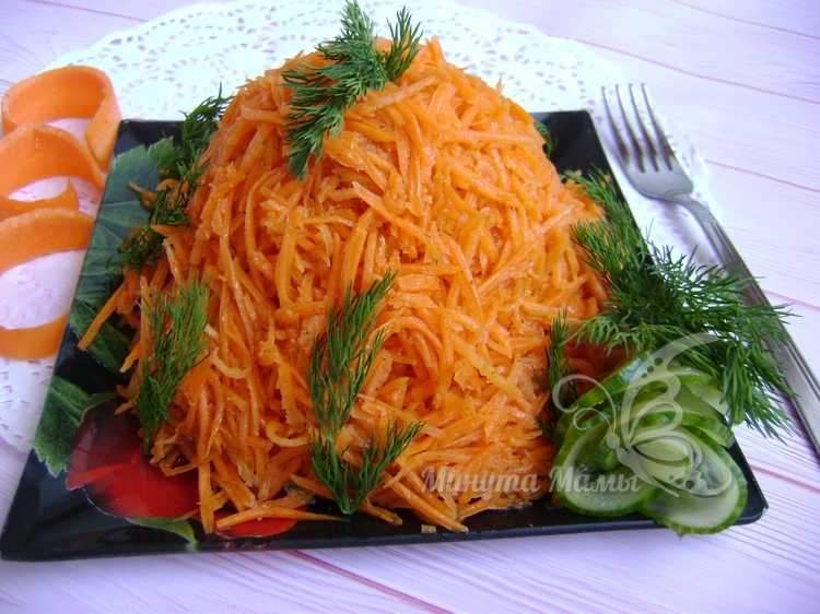Фото-рецепт салата «Муравейник» с корейской морковью