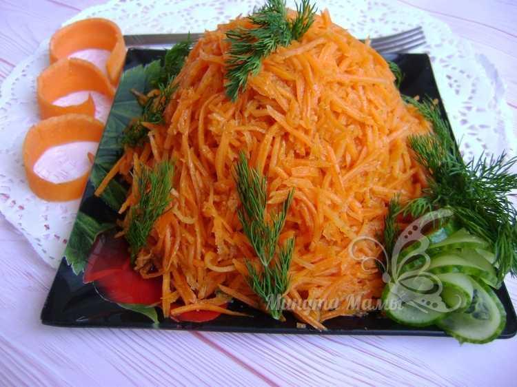 Вкусный салат «Муравейник» с корейской морковью