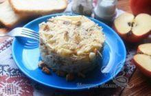 Вкусный слоеный салат «Мой генерал» с говядиной